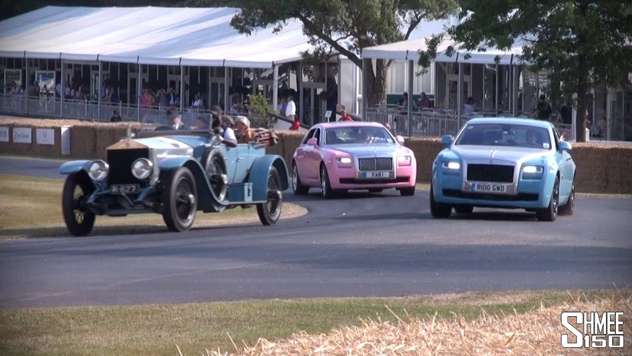 FAB 1 - PINK Rolls Royce Ghost for Cancer Care Charity - YouTube