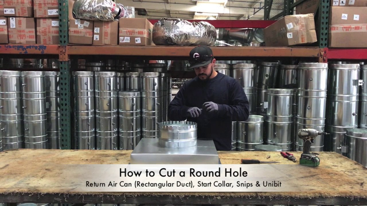 How-To Cut a Round Hole in Ductwork - The Duct Shop