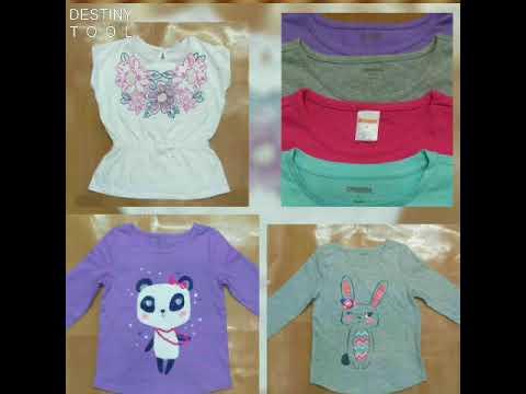 Branded Wholesale Surplus Stocklot Kids Clothing Wear Garments Tshirts