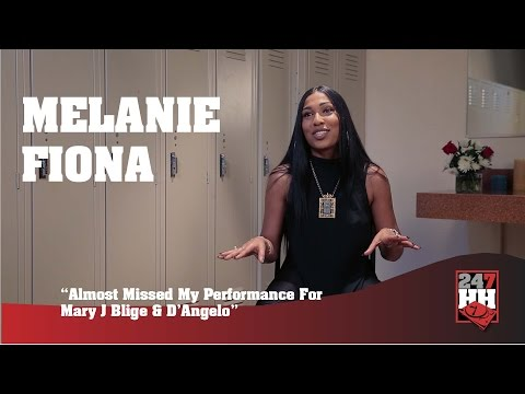 Melanie Fiona - Almost Missed My Performance For Mary J. Blige & D