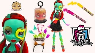 "Create A Monster High 28"" Gore-geous Ghoul Friend Doll Changing Eyes + Draw On Playset  Set"