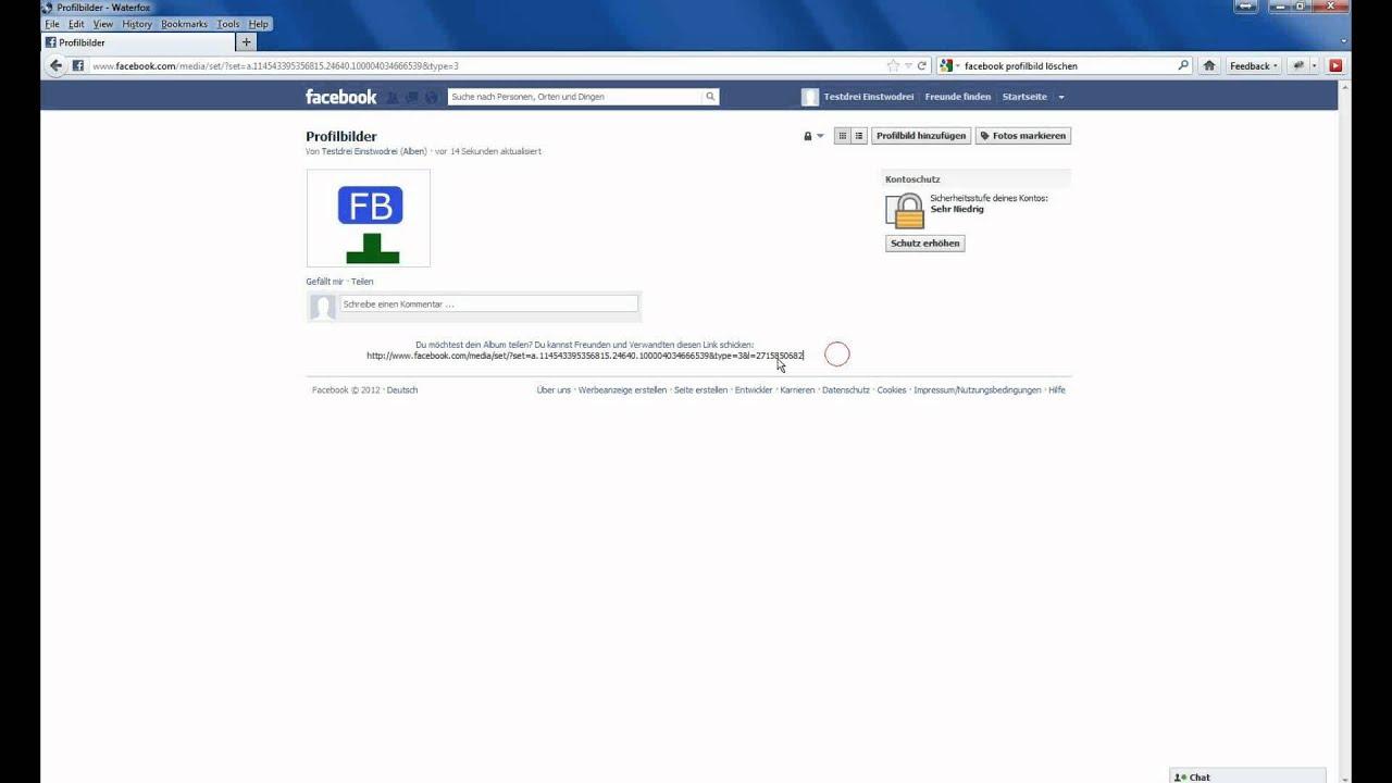 Profilbild bei facebook löschen