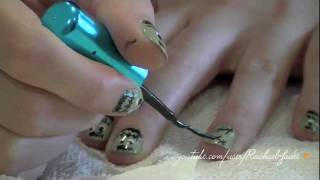 "Halloween Nail Art Tutorial: ""Freaky Frankensteins"""
