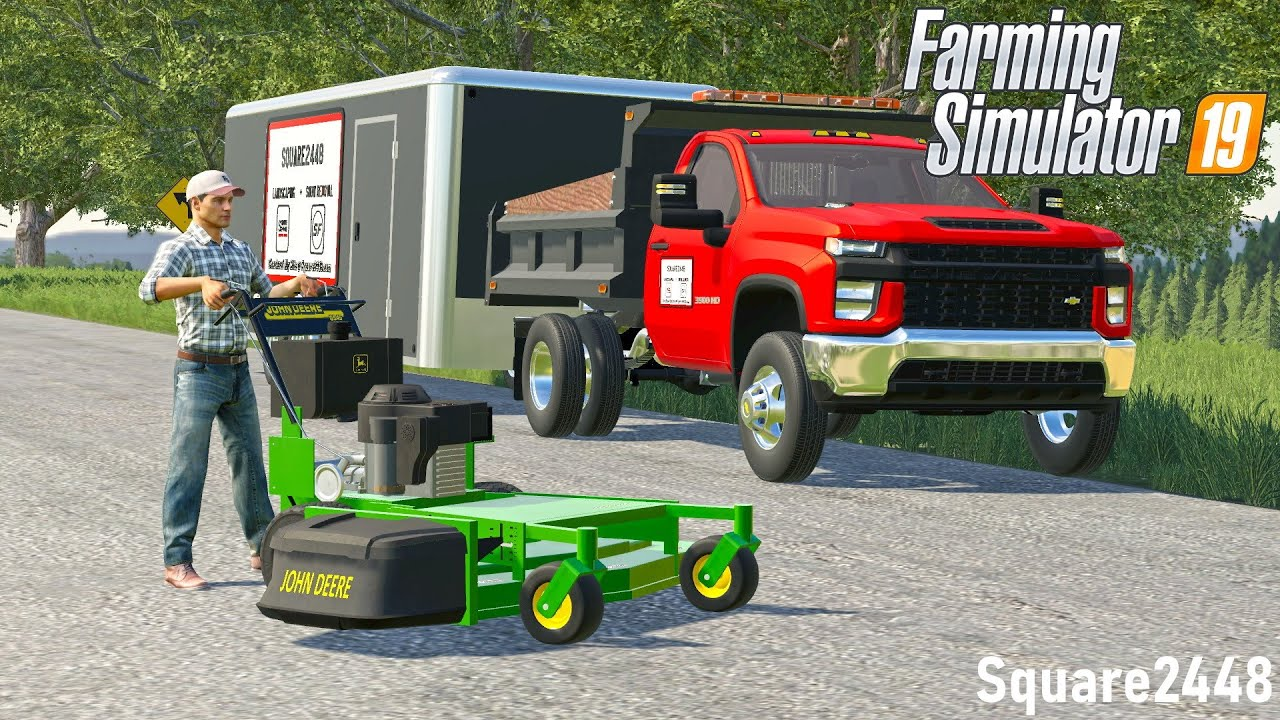 Download LEAFS ARE STARTING TO FALL!   MOWING WITH JOHNN DEERE MOWER!   LAWN CARE   ROLEPLAY   FS19