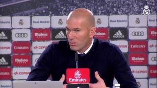 Zidane en rueda de prensa tras la victoria ante la Real Sociedad