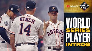 2019 World Series Player Intros for Astros + Nationals