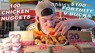EAT 100 McDonald's Chicken Nuggets et WIN Fortnite V-BUCKS (2000 Abonné Spécial)