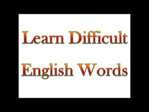Learn Difficult English Words - Epistolary