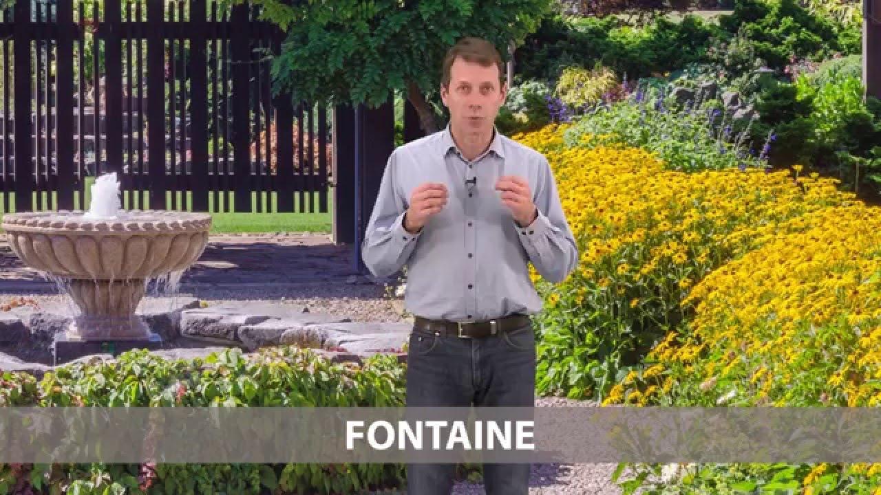 Fontaine exterieur et jardin youtube for Jardin youtube