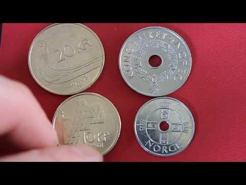 Norwegian money. Norwegian Krone coins. Full set.
