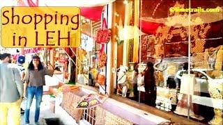 Shopping in Leh at Old Leh Road Pashmina Shawls Leh Ladakh Tourism Limetrails