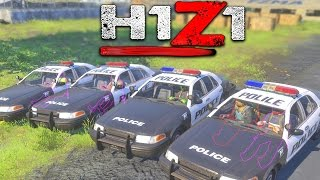 H1Z1 - THE 5 MAN COP FORCE!!! H1Z1 Funny Moments And Gameplay!