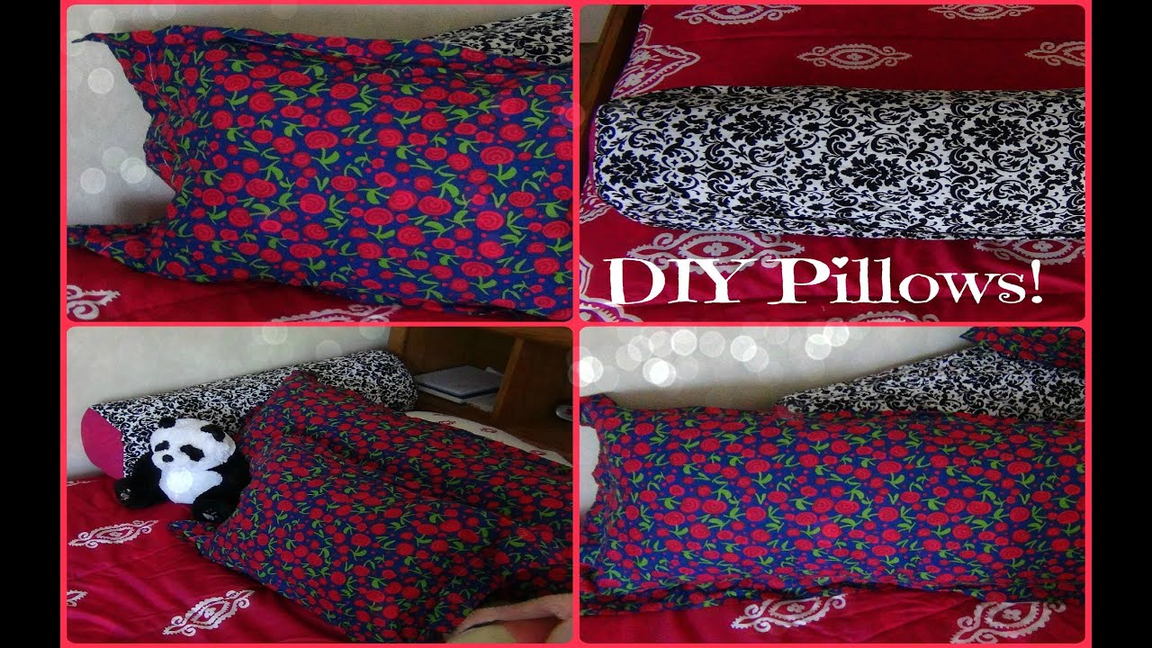 DIY Pillows Body Pillow Small Pillow and Long Round Pillow