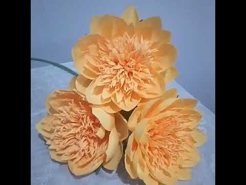 Handcrafted paper flowers: Paper Peonies - Bowl of beauty