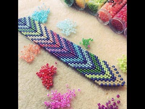 Bead Weaving Tutorial: Chevron or Arrow Bracelet