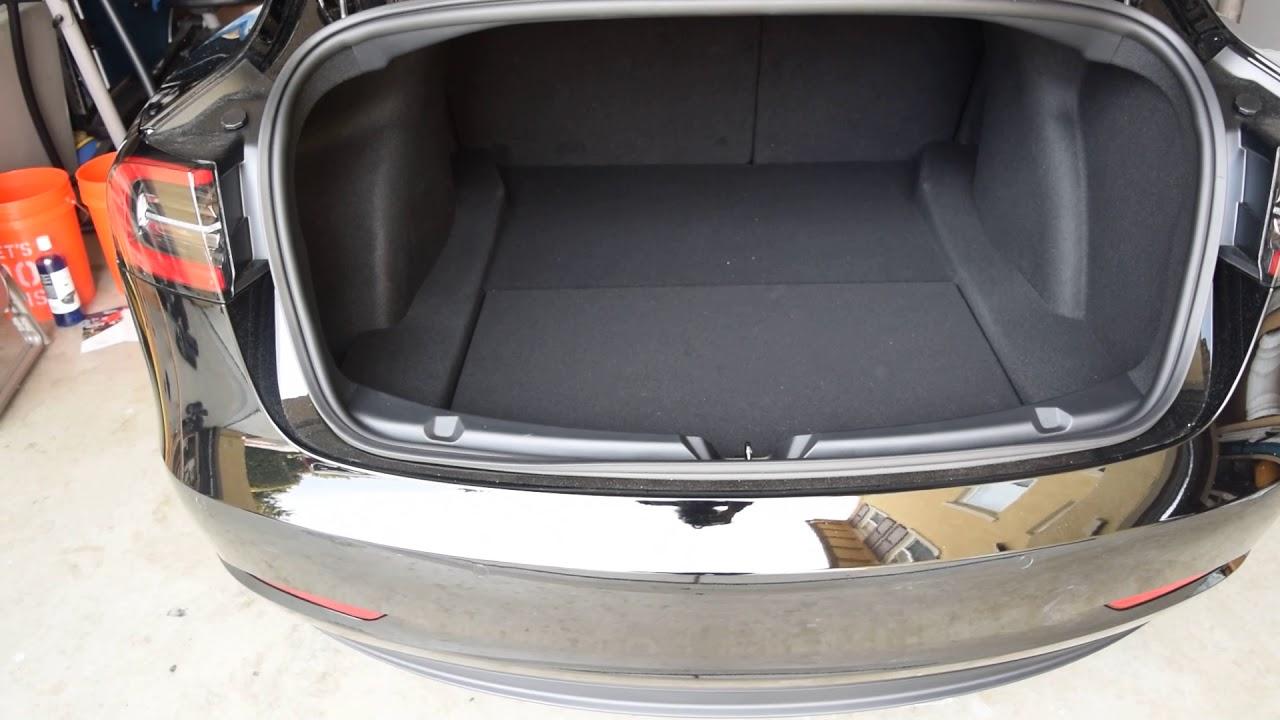 Tesla model 3 trunk space