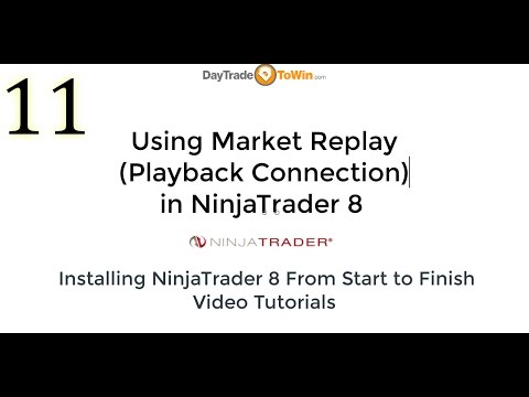 NinjaTrader 8 How To Use Market Replay (Playback Connection) Video Tutorial Part 11