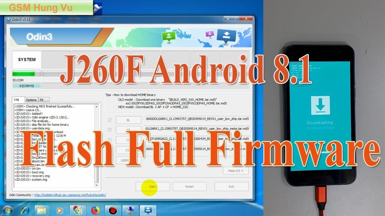Samsung J260f Flash File