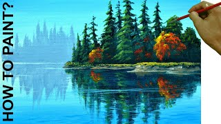How to Paint Water Reflections Easy in Acrylics