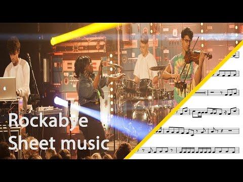 Rockabye baritone saxophone sheet music