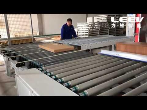 Линии формирования пакетов деталей мебели, изготовление коробки и упаковка.