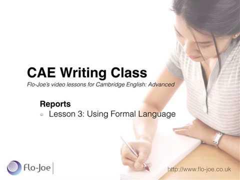 CAE Reports 3: Formal Language