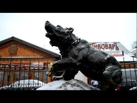 Медведь-символ города Ярославль.