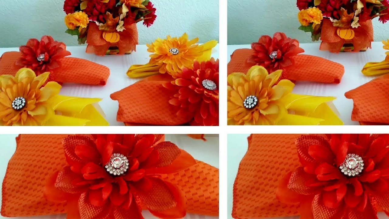 Diy dollar tree autumn napkin ring holders youtube for Diy fall napkin rings