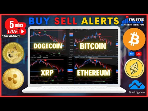 Bitcoin Dogecoin Ethereum XRP Signal Alerts - LIVE 5 MIN CHART (WITH CHILL MUSIC)