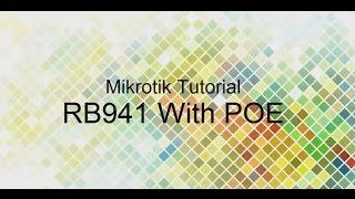 Mikrotik hAP Lite RB941 mod with POE