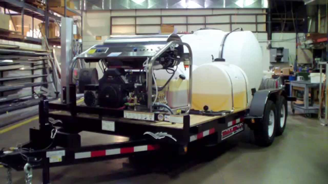 The Ultimate Pressure Washing Trailer With 3 Soap Remote