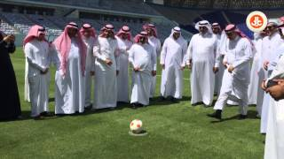 منافسة بين وزير التعليم و مدير جامعة الملك سعود في تسديد ضربات الجزاء