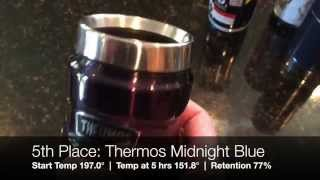 Coffee Travel Mug Heat Insulation Test