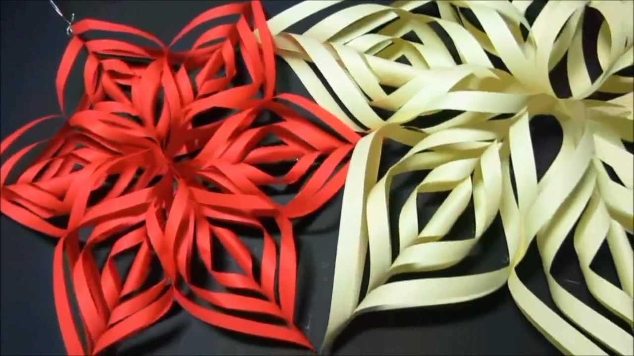 Adorno de Navidad: Copo de nieve de papel. How to make paper ...