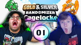 THAT DID NOT JUST HAPPEN!? | Pokemon Gold and Silver Randomized Cagelocke Ep 01