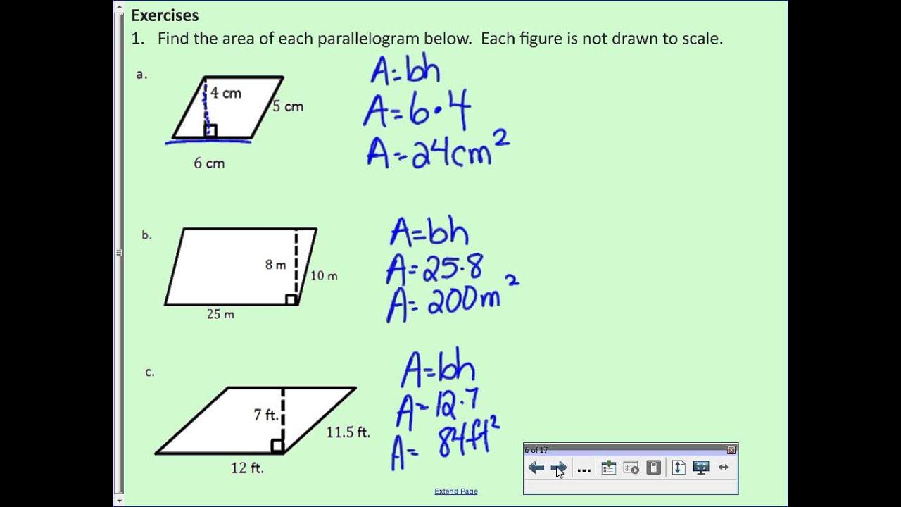 Area of Parallelograms (solutions [ 720 x 1280 Pixel ]
