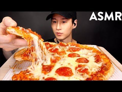 ASMR EXTRA CHEESY PEPPERONI PIZZA MUKBANG (No Talking) EATING SOUNDS | Zach Choi ASMR
