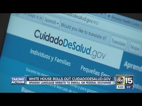 White House rolls out Spanish language website to enroll in federal exchange.