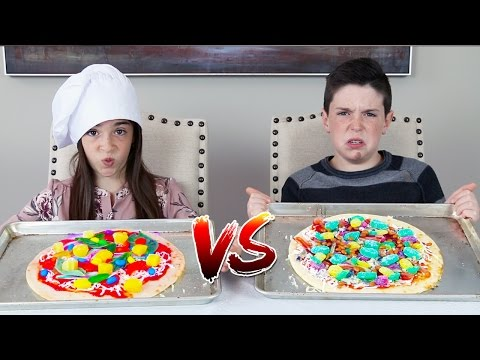 Thumbnail: GUMMY FOOD vs REAL FOOD! - Pizza Edition