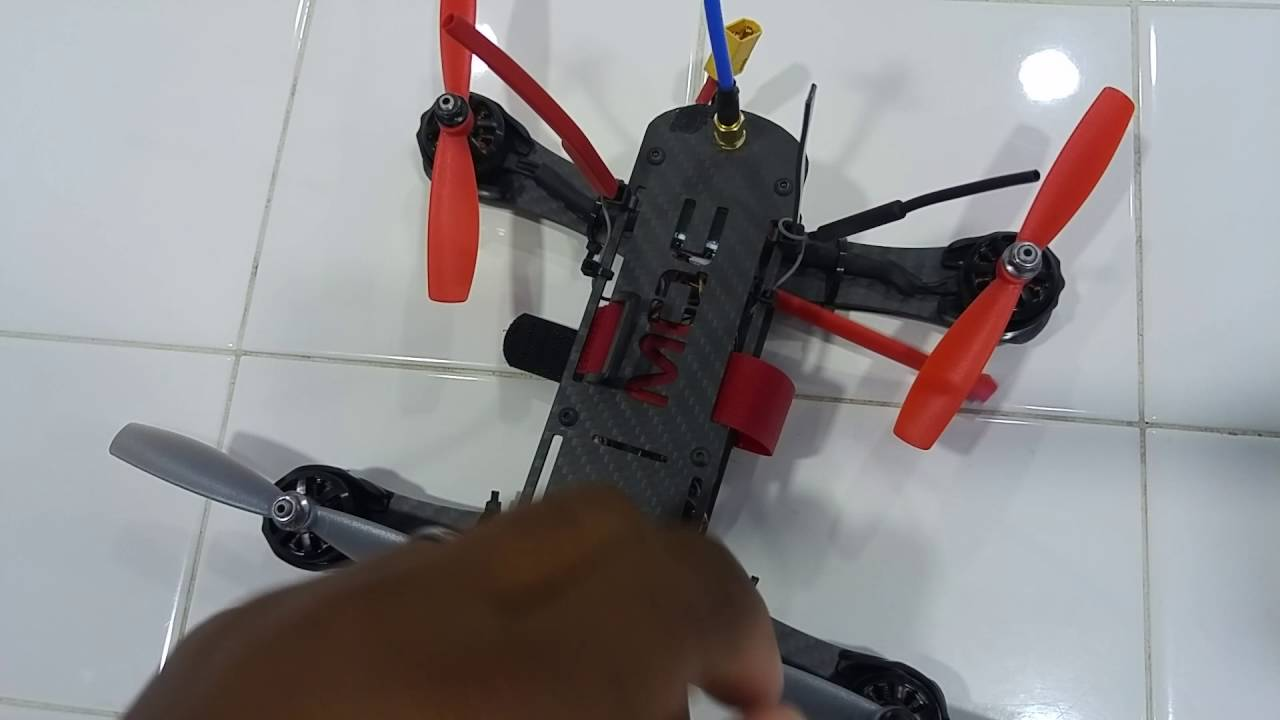 Racing Drone Zip Tie Antenna Mount Instructions