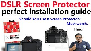 DSLR Screen protector perfect installation guide in Hindi