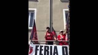 Intervento di Walter Caporale durante la manifestazione anticorrida ad Ales-16 Mag. 2015