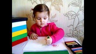 Учимся различать основные цвета. Рисуем карандашами свою семью.(, 2016-02-18T11:00:00.000Z)