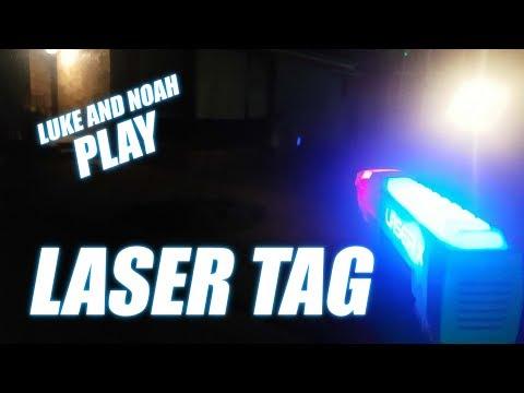 Luke and Noah play LASER TAG