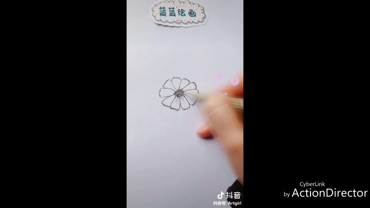 [Hướng dẫn] Vẽ hoa cúc đơn giản