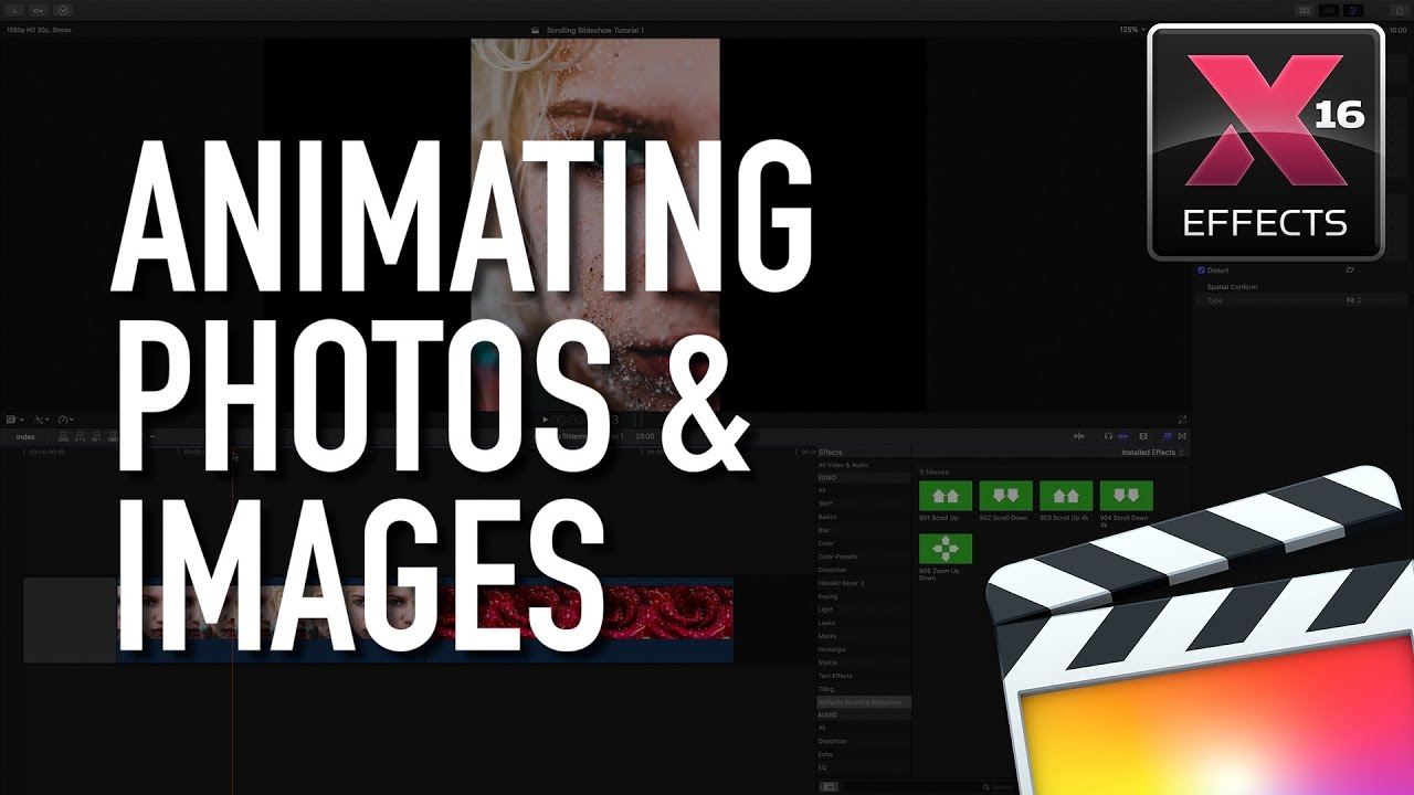 How to build a Scrolling Slideshow in Final Cut Pro X FCPX