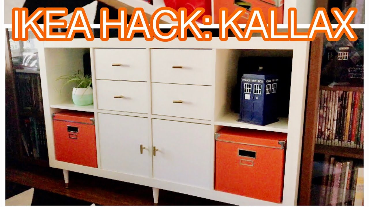 ikea kallax hack easy diy youtube. Black Bedroom Furniture Sets. Home Design Ideas