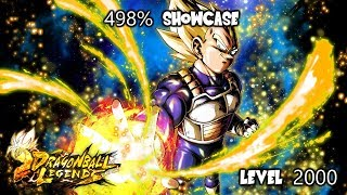 OG Red Super Saiyan Vegeta 498% Showcase - Dragon Ball Legends