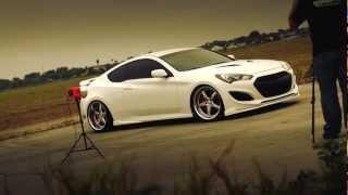 K3 Projekt Wheels 2013 Hyundai Genesis Coupe on Projekt 1 Wheels 20X9 & 20X11.