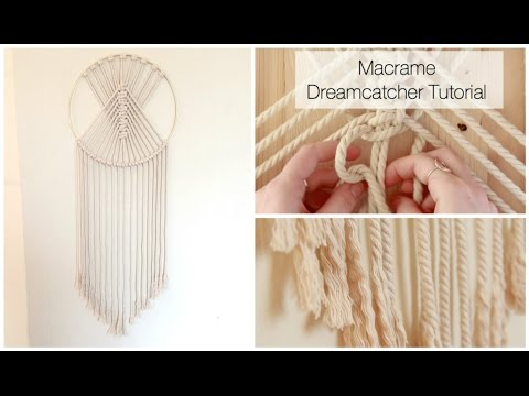 How To Make A Macrame Wall Hanging Dreamcatcher Tutorial thumbnail